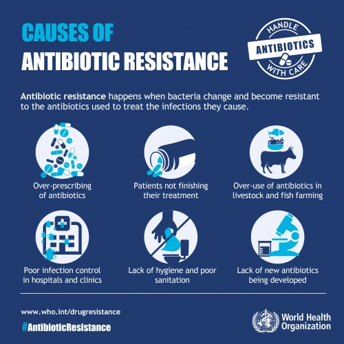 """""""WHO"""" is creating awareness for resistance to antibiotics?"""
